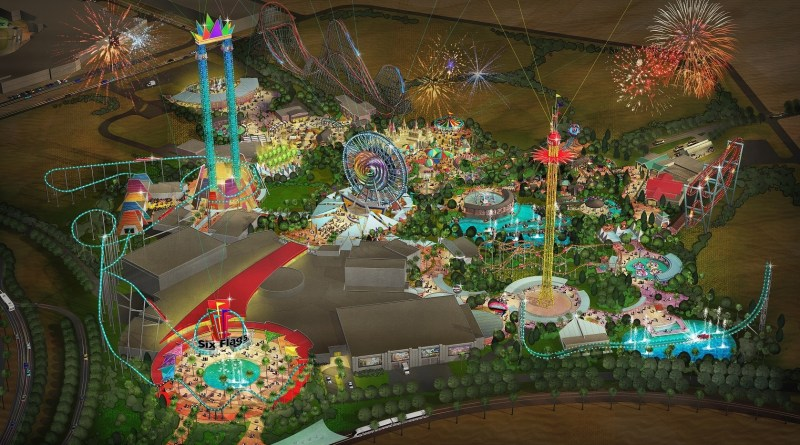 First Look at Six Flags Dubai – Take A Look at the Interesting Details in the Rendering!