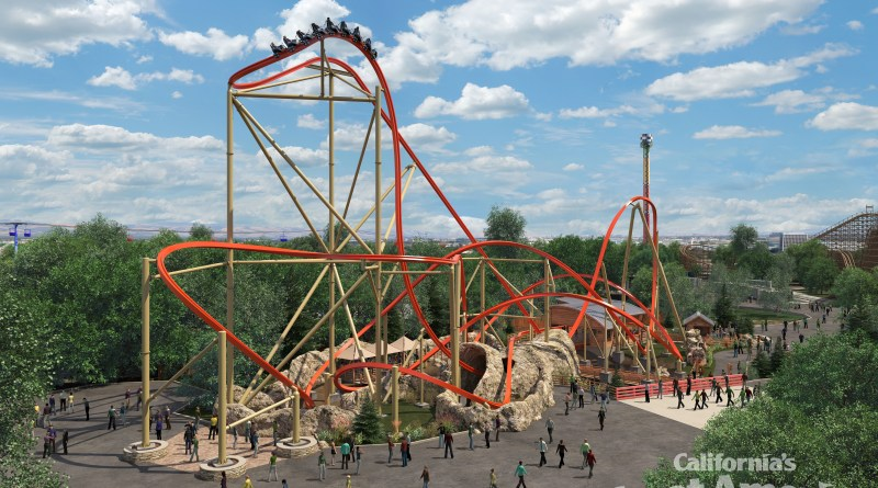 "California's Great America Announces ""RailBlazer"" Roller Coaster for 2018"