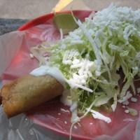 Street food flauta
