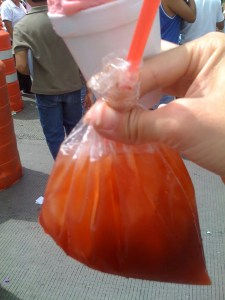 Tepeche, sold in a plastic baggie on the streets of Mexico City