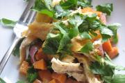 Sweet potato salad with rajas, onions and oregano dressing