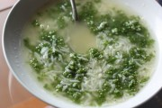 Huauzontle and rice soup