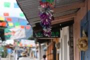 Decorations in Xico for the annual Fiesta de la Magdalena