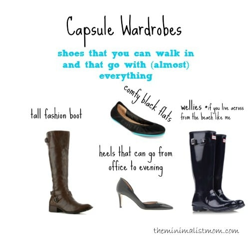week one: capsule wardrobe shoes & the rest | the minimalist mom