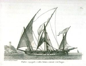 xebec, spanish, ship, lateen, sail