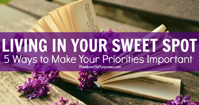 Living In Your Sweet Spot – 5 Ways to Make Your Priorities Important