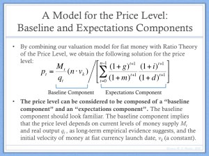 Model for the Price Level (Part 1)
