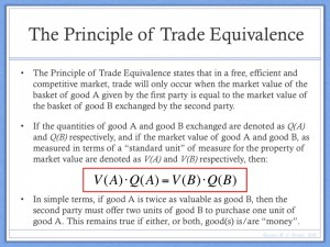 Principle of Trade Equivalence