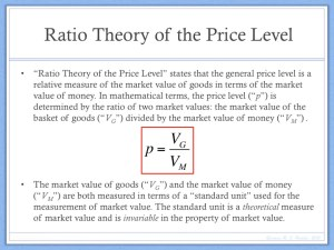 Ratio Theory of the Price Level