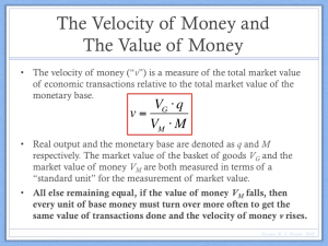 Velocity of Money Model