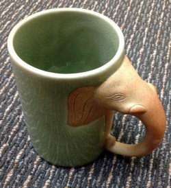 Small Of Elephant Mug With Trunk Handle