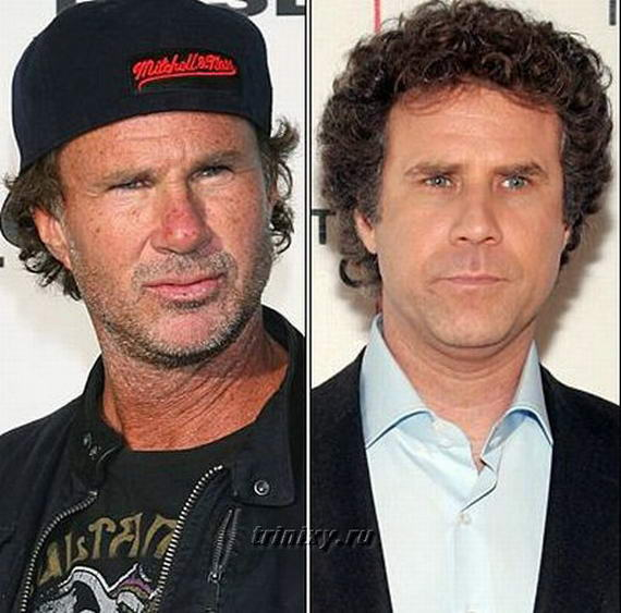 10 Most Look Alike Celebrities Will Ferrell and Chad Smith