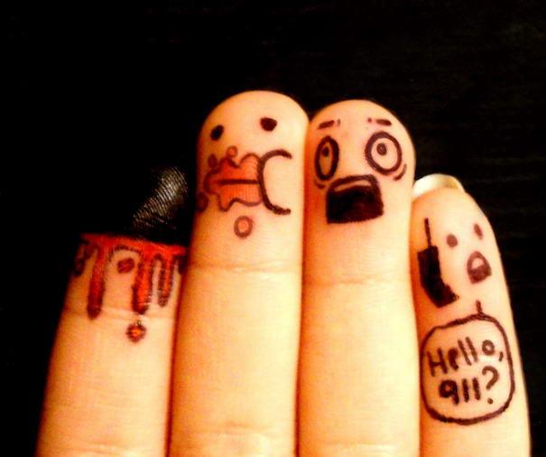 Finger Art Hello 911 by reztips