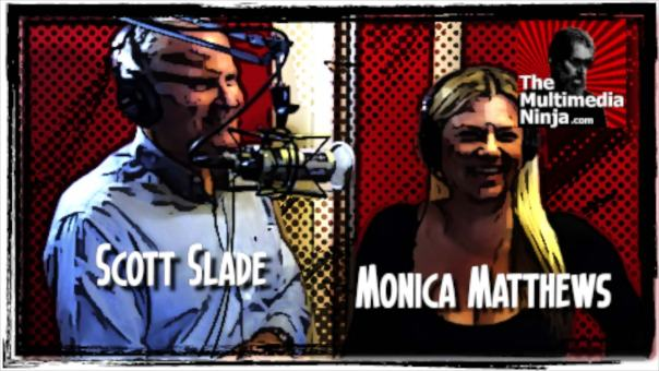 Monica Matthews and Scott Slade at The Red Room