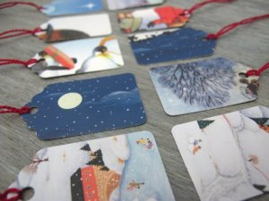 Upcycle Holiday Card Ideas - The Mummy Toolbox - Gift Tags by Milo Made