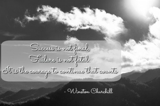 success is not final - winston churchill - falling off the food wagon!