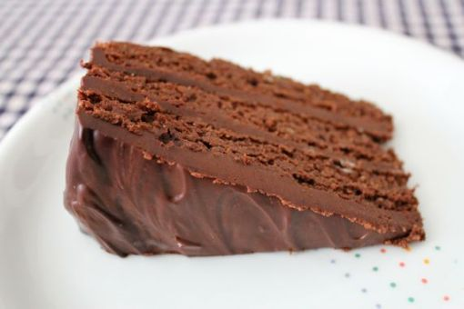 Gluten Free Mocha brownie cake by A Lady In France