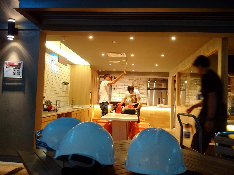 KidZania SG - Putting together the final touches to the kitchen of an F&B establishment