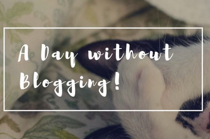 a day without blogging
