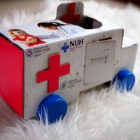 DIY Cardboard Ambulance