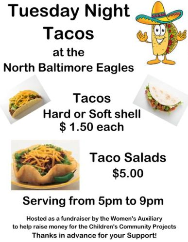 Eagle Taco Night Flyer Sept. 2015