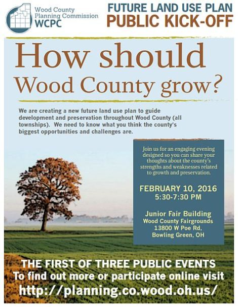 Wood County Land Use Plan Meeting Flyer Feb 2016