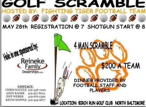 NBHS Football Golf Scramble 2016 flyer