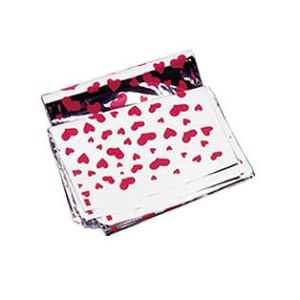 heart patterned mylar bag magnum