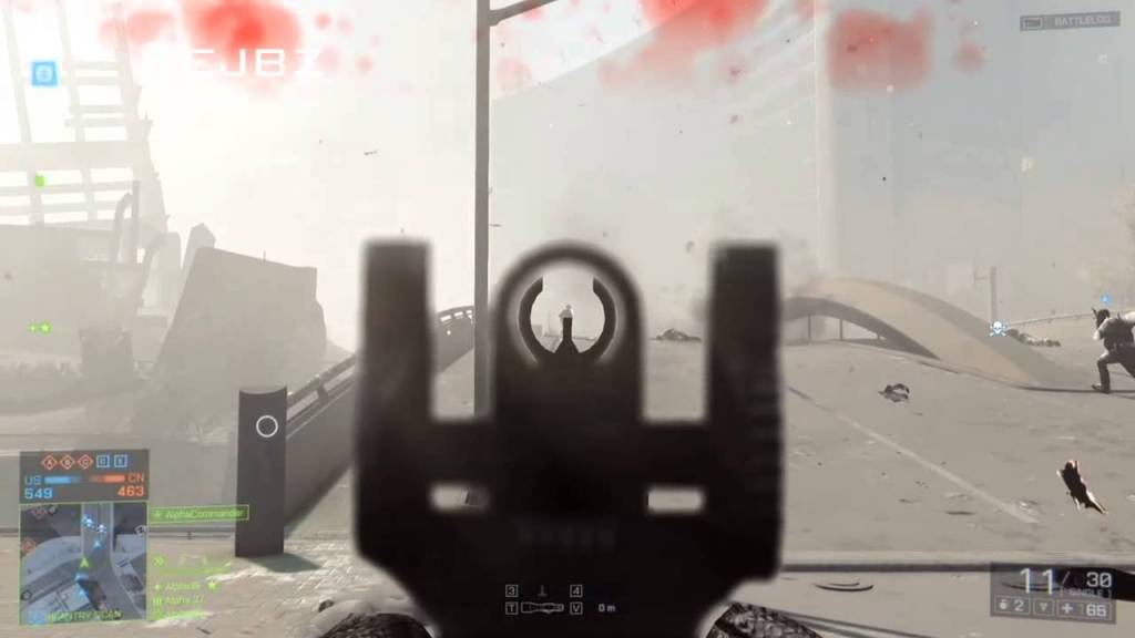 battlefield iron sights