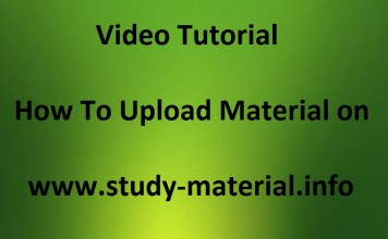 Video Tutorial - How to Upload Study Material on study-material.info