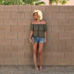 Off the shoulder and Lace-up sandals