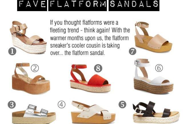 flatform sandals colage
