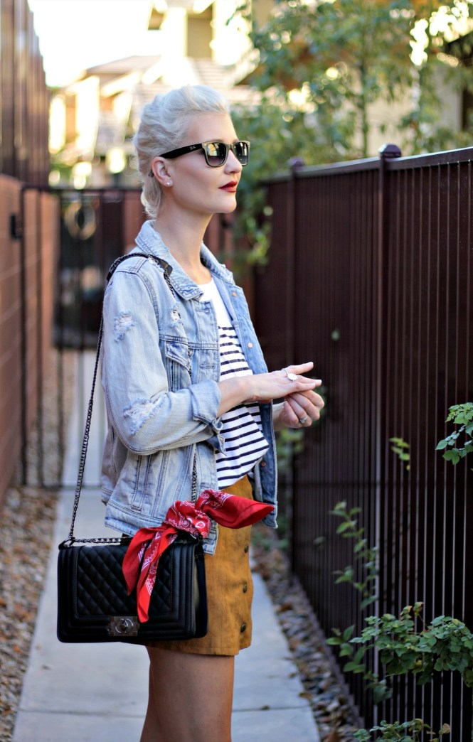suede-skirt-denim-jacket-studded-sandals-striped-tee-outfit-ootd-lindsey-simon-las-vegas-fashion-blogger-4