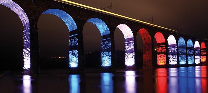Royal Border Bridge Paris Flag Lights