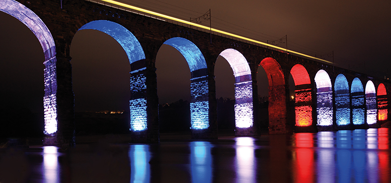 Royal Border Bridge Paris Flag Lights