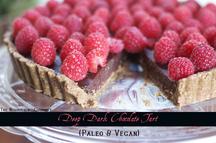 Paleo Deep Dark Chocolate Peppermint Cake