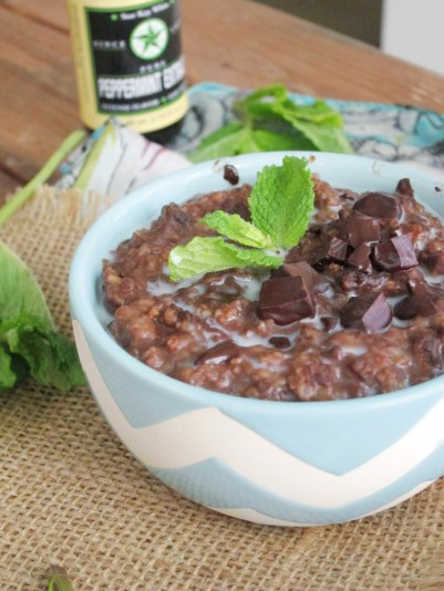 Thin Mints Oatmeal