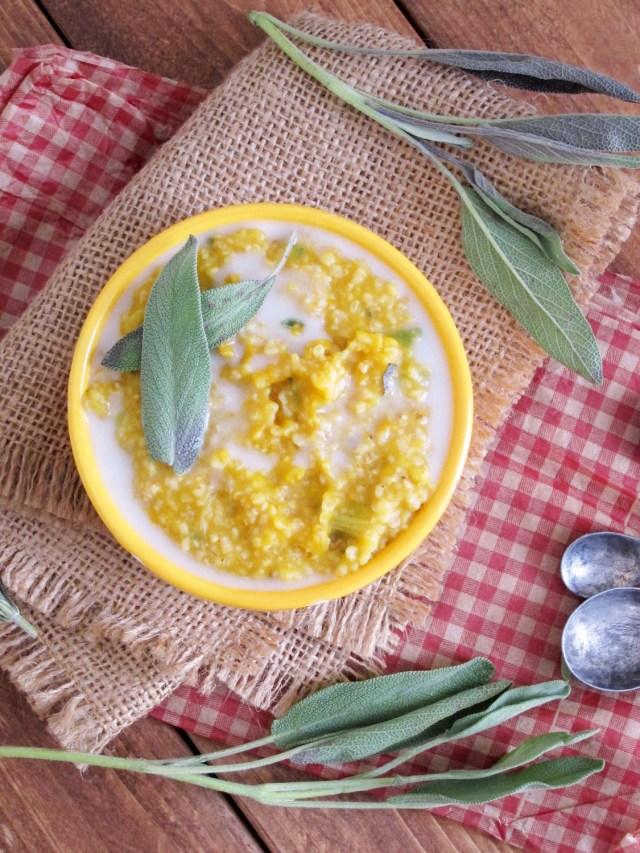 herbed pumpkin leek oatmeal 004