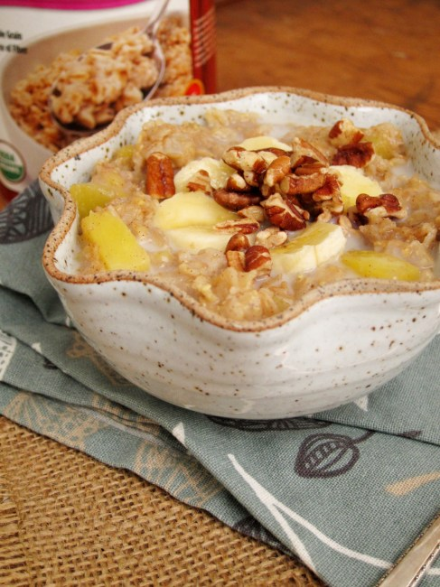Hummingbird Cake Batter Oatmeal by The Oatmeal Artist #vegan