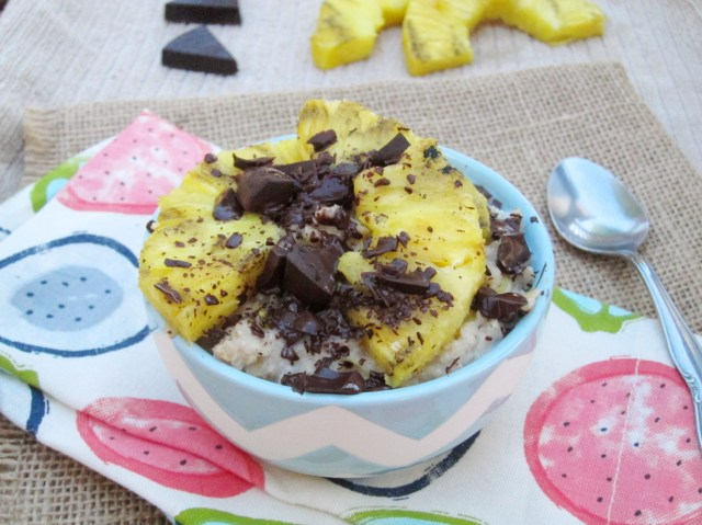 Grilled Pineapple and Dark Chocolate Oatmeal by The Oatmeal Artist