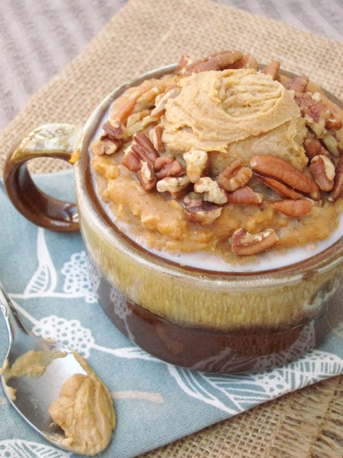 Spiced Pumpkin Oatmeal with Java PB2 by The Oatmeal Artist