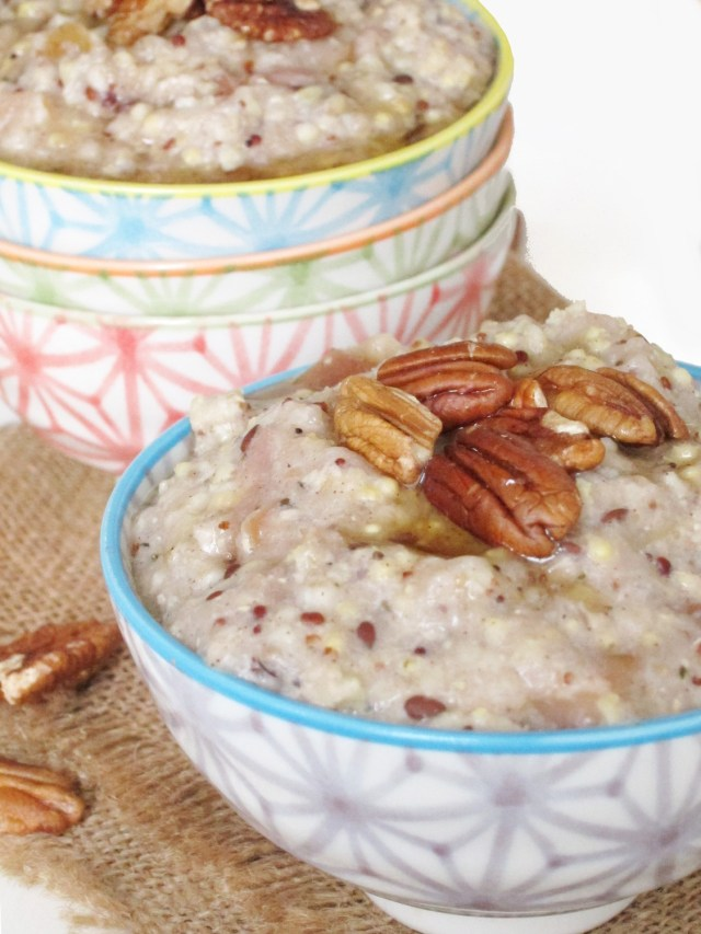 Applesauce Oatmeal using Purely Elizabeth Ancient Grains Oatmeal #glutenfree
