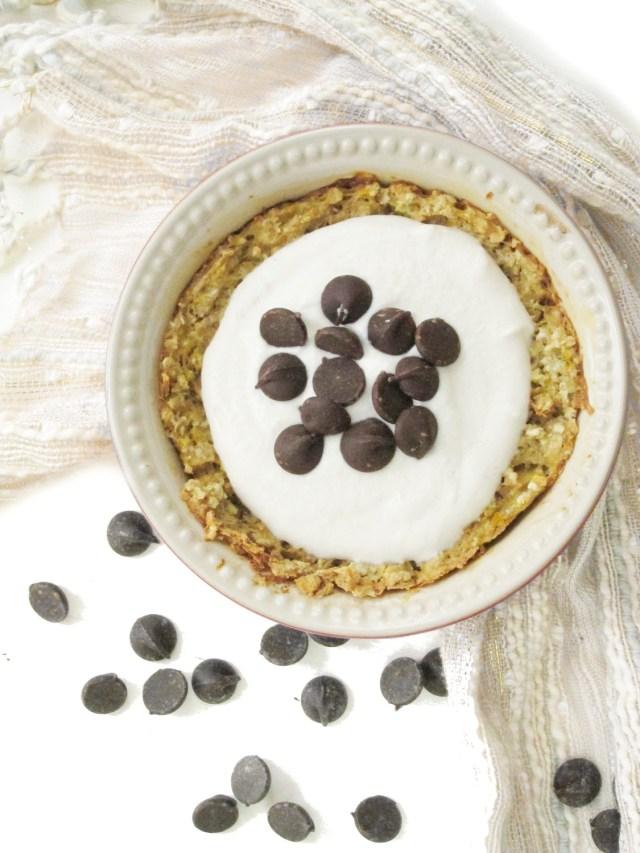 Cannoli Baked Oatmeal with Cashew-Yogurt Cream #oatmealartist
