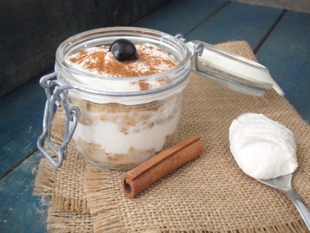 Tres Leches Baked Oatmeal Parfait with Cashew-Yogurt Cream