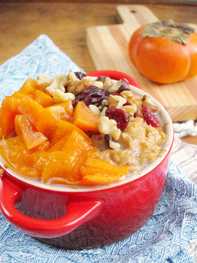 Spiced Persimmon Oatmeal