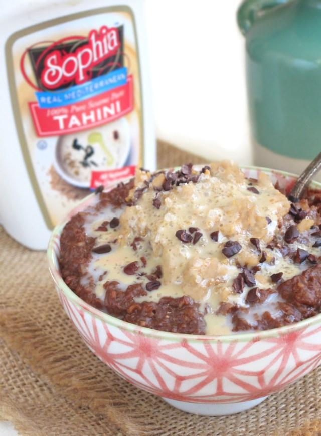 salted-tahini-fudge-oatmeal-vegan