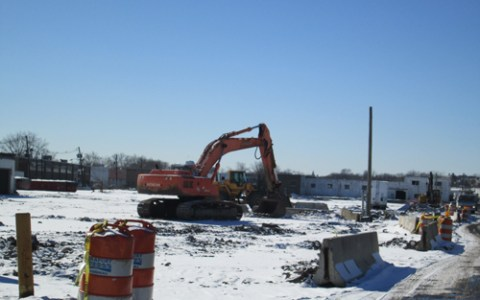 Photo by Ron Leir Demolition proceeds at Jeryl Industrial Park in Kearny.