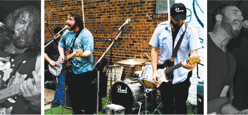 Photos courtesy Mike Keefe CENTER: Cicada Radio during a performance last summer.