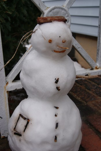 Created by Sabrina Walker The official Observer snowman