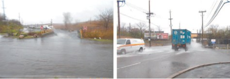 Photos courtesy Mayor Alberto Santos The Pike is better suited to marine traffic during downpours like the one on April 30, as shown in these photos.
